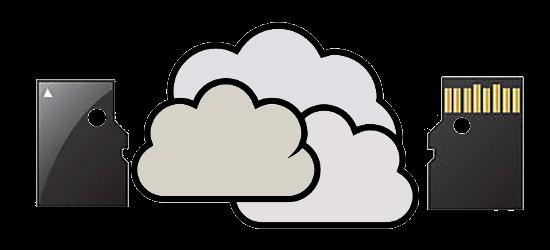 Personnages intérrogatifs devant le cloud